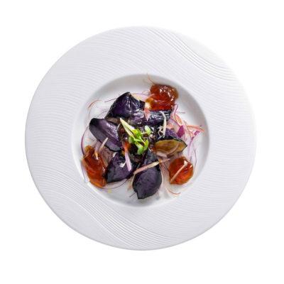 茄子と茗荷のポン酢ジュレ