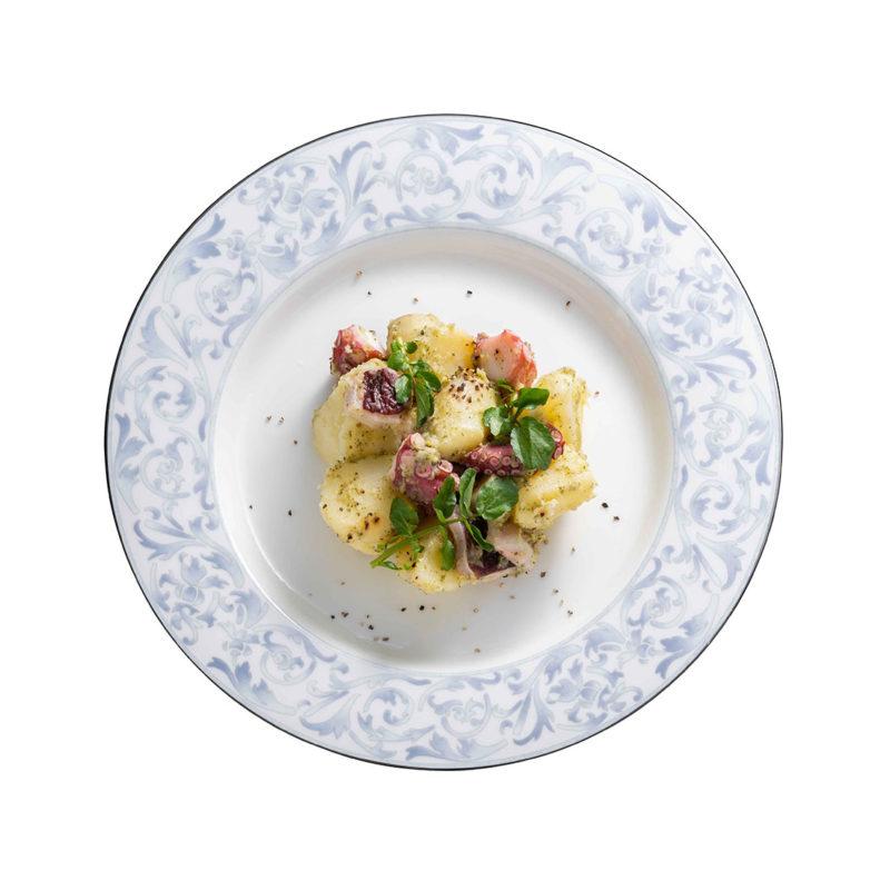 ポテトとタコのジェノバ風サラダ