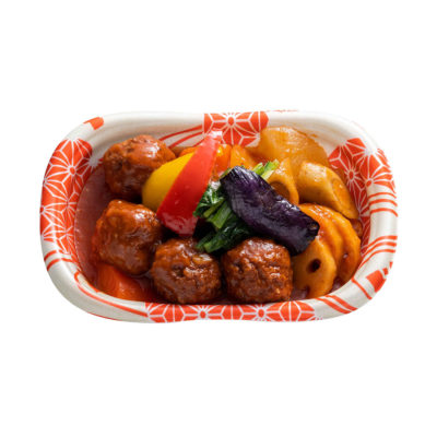 根菜と肉団子のトマト煮